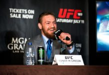 Conor McGregor vs. Floyd Mayweather UFC 189 Press Tour