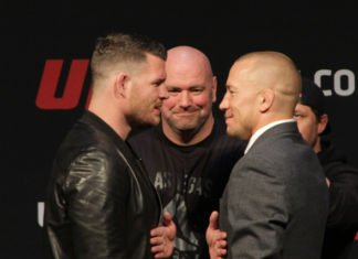 GSP Michael Bisping UFC 217