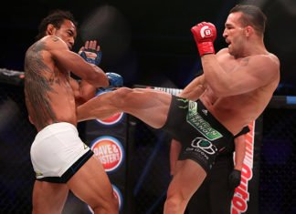 Michael Chandler fights Benson Henderson. Chandler will appear at Bellator NYC