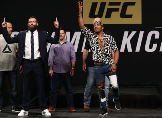 Michael Chiesa and Kevin Lee before UFC Oklahoma City aka UFC Fight Night 112