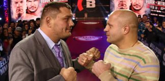 Bellator NYC fighters Matt Mitrione and Fedor Emelianenko aka the Last Emperor