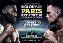 Glory 42 Paris fans storm ring assault fighter