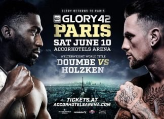 Glory 42 Paris fans storm ring assault fighter