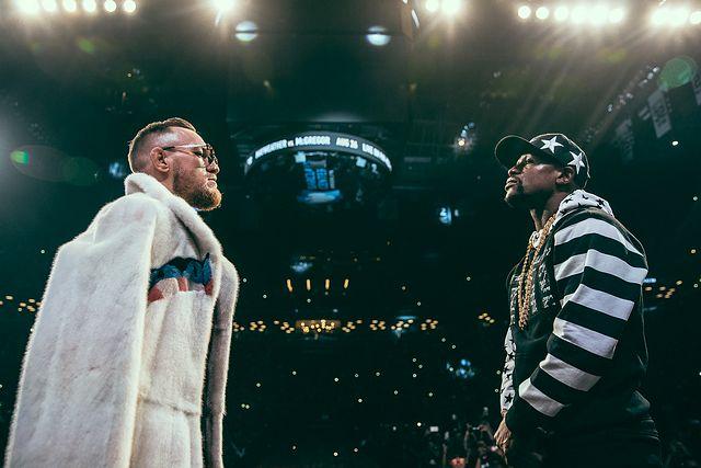 Mayweather vs. McGregor Conor McGregor and Floyd Mayweather (mayweather-mcgregor)