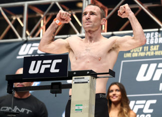 Neil Seery fights on the UFC Glasgow prelims