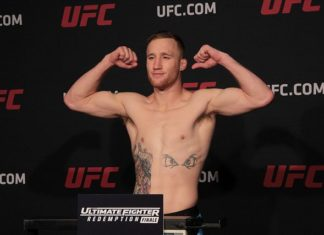 Justin Gaethje Ultimate Fighter 25 finale weigh-in