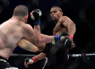 Thiago Santos appeared at UFC 213 (shown here facing Nate Marquardt)