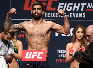 Elizeu Zaleski dos Santos battled it out with Max Griffin at UFC Sao Paulo
