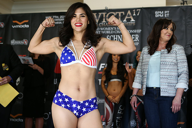 Rachel Ostovich made her UFC debut at the TUF 26 Finale