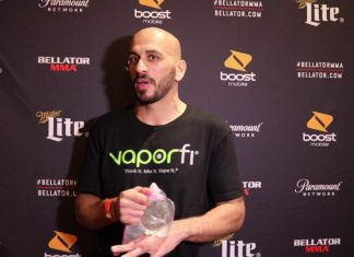 Saad Awad Bellator 193 post-fight scrum