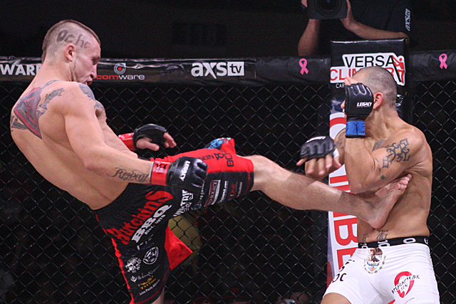 Steven Peterson (pictured) and Brandon Davis earned Fight of the Night at UFC Austin