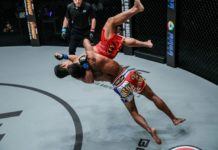 Kritsada Kongsrichai suplexes Robin Catalan at ONE Championship: Iron Will