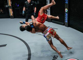 Kritsada Kongsrichai suplexes Robin Catalan at ONE Championship: Iron Will