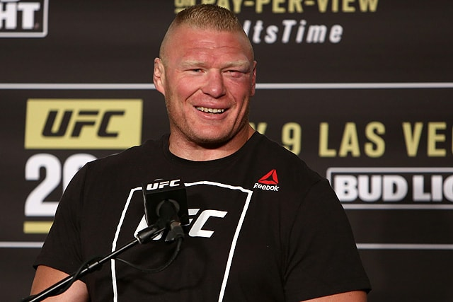 UFC heavyweight & WWE Superstar Brock Lesnar MMA
