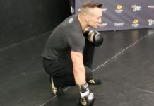 Michael Chandler at the Bellator 197 open workouts