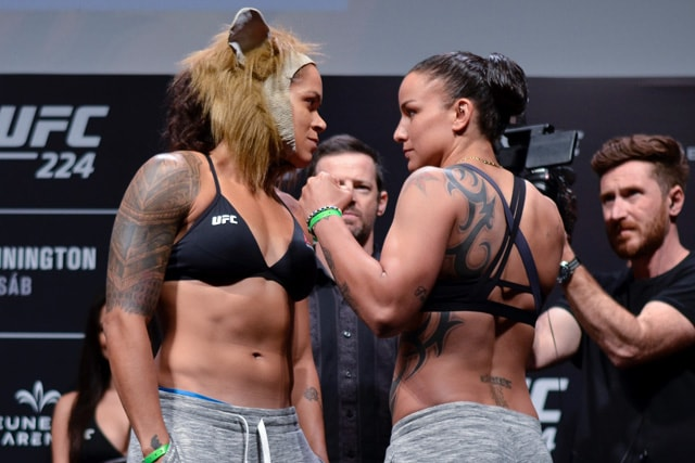 Amanda Nunes and Raquel Pennington ahead of UFC 224