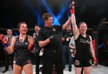 Sarah Kaufman won the vacant bantamweight title at Invicta FC 29