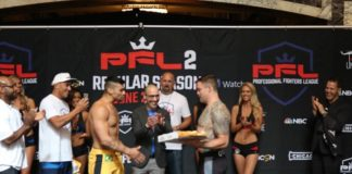 PFL 2 weigh in sean o'connell