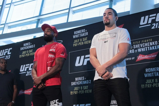 Yoel Romero and Robert Whittaker