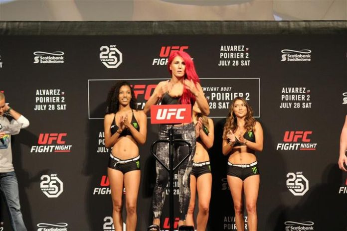 Randa Markos, UFC Calgary ceremonial weigh-ins