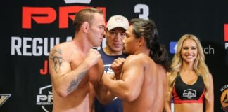 Jake Shields and Ray Cooper, PFL 3 Weigh-Ins