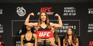 Tecia Torres UFC Calgary ceremonial weigh-ins