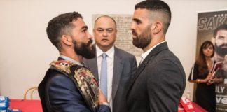 Patricio Pitbull (left) and Daniel Weichel, Bellator MMA