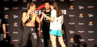 Julia Budd faces off with Talita Nogueira ahead of Bellator 202