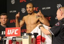 Jpse Aldo weighs in ahead of UFC Calgary (UFC on FOX 30)
