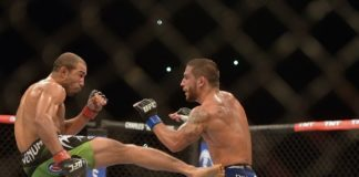 Jose Aldo (left) against Chad Mendes