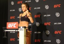 Joanna Jedrzejczyk UFC Calgary early weigh-in