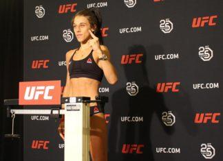 Joanna Jedrzejczyk UFC Calgary early weigh-in