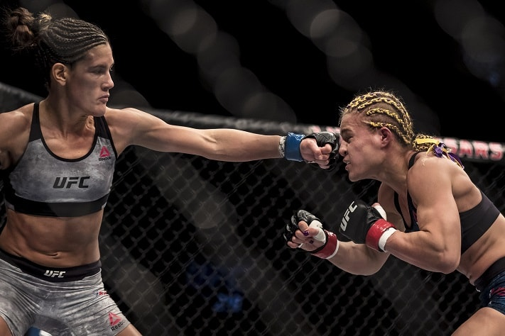 Cortney Casey (left) UFC