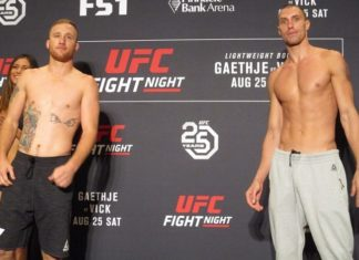 UFC Lincoln Justin Gaethje and James Vick