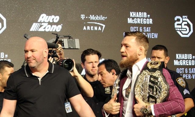 Conor McGregor ahead of UFC 229