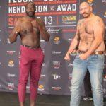 Cheick Kongo and Tim Johnson, Bellator 208 weigh-in
