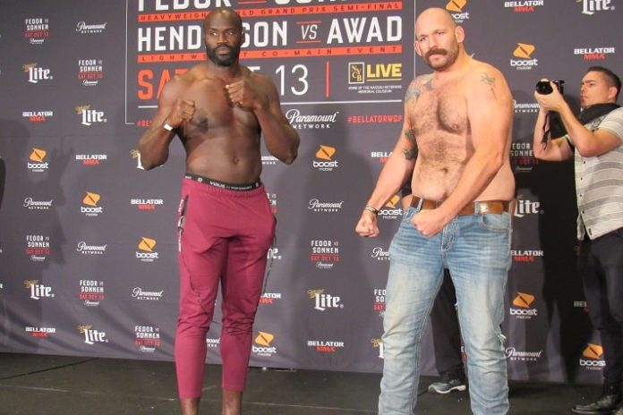 Cheick Kongo and Tim Johnson, Bellator 208 weigh-in