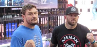 Matt Mitrione and Ryan Bader ahead of Bellator 207