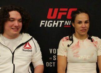 Talita Bernardo UFC Moncton post-fight