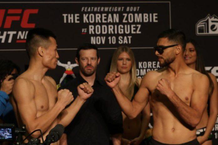Korean Zombie and Yair Rodriguez, UFC Denver