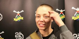Rose Namajunas UFC Denver backstage