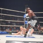 Floyd Mayweather knocks down Tenshin Nasukawa at RIZIN 14