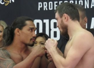 Ray Cooper III (left) vs. Magomed Magomedkerimov PFL 11