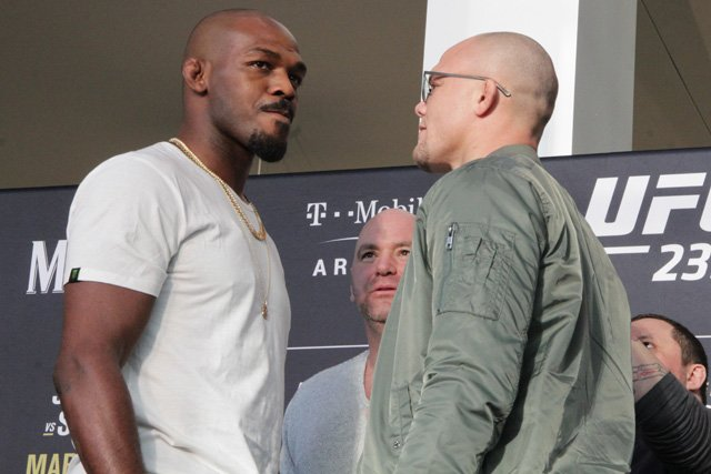 Jon Jones and Anthony Smith UFC