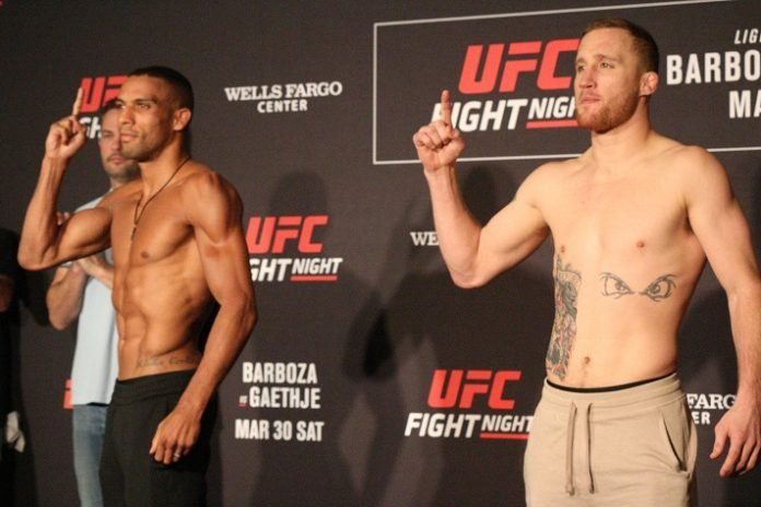 UFC Philadelphia Edson Barboza and Justin Gaethje