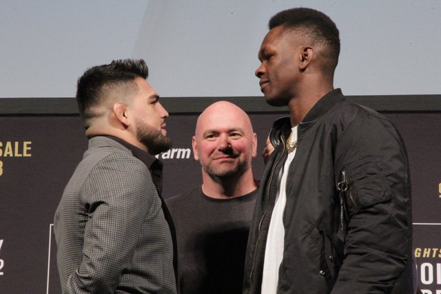 Kelvin Gastelum and Israel Adesanya ahead of UFC 236