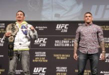 Max Holloway and Dustin Poirier ahead of UFC 236