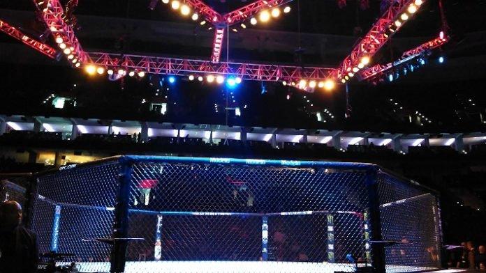 UFC Philade;phia octagon
