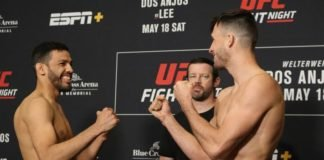 Julio Arce vs. Julian Erosa face off ahead of UFC Rochester