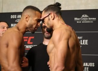 Danny Roberts and Michel Pereira, UFC Rochester weigh-in